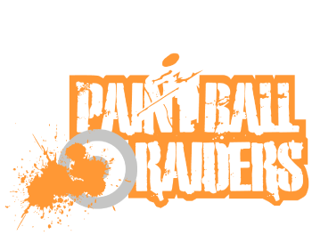 Paintball Raiders Gloucester Paintballing White and Orange Logo